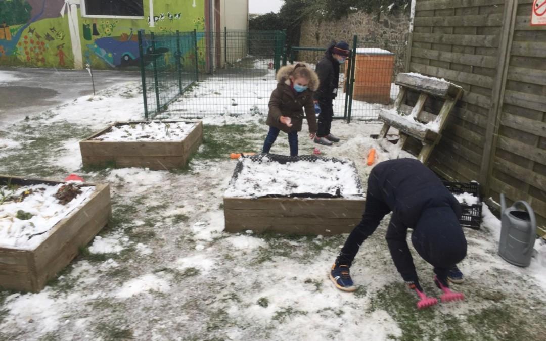 Sainte-Famille sous la neige